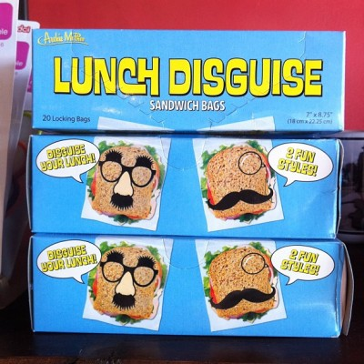 Lunch Disguise bags! $4.95.