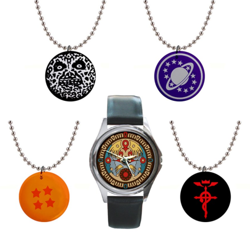 NEW Button Necklaces and Watches! Lots of designs up and lots more coming soon. Should you be looking for something you don't see just message me and I'll see what I can do to help. Follow Much Needed Merch on Tumblr and or Facebook (10% off code)