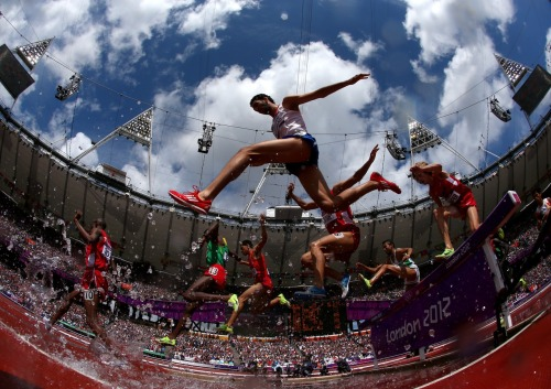 gettyimages:  Steeplechase: Mahiedine Mekhissi-Benabbad of France in the Men's 3000m Steeplechase Heats on Day 7 of the London 2012 Olympic Games at Olympic Stadium on August 3, 2012 in London, England. Photo by: Alexander Hassenstein/Getty Images