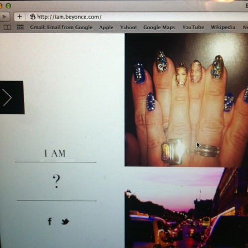OMG! beyonce blogged my nail on her site!!! (Taken with Instagram)