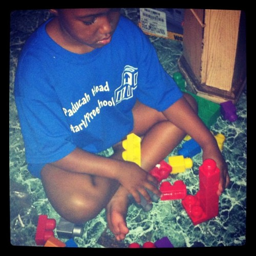 #Niece Playin with #blocks  (Taken with Instagram)
