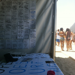Volunteering for TWLOHA at the US Surf Open in Huntington Beach with Jamie Torkowski and the rest of the crew. So worth ditching work.