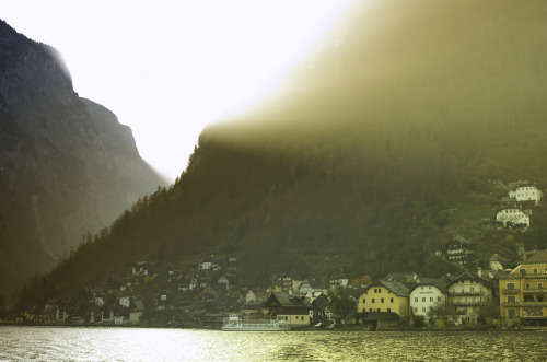 hallstatt sunset