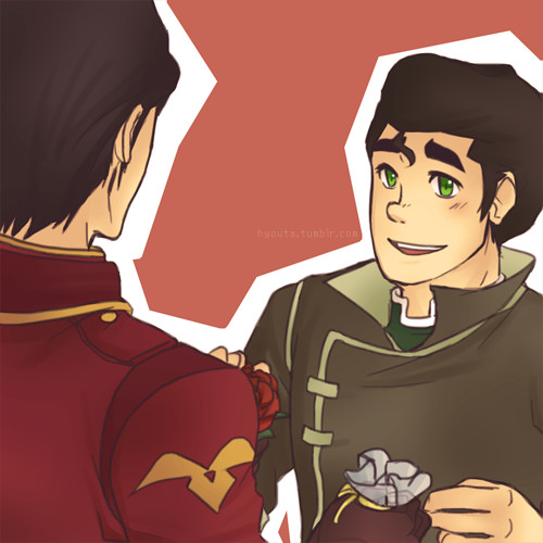 hyouta:   Broh Week Day 05: Charming  Idea given to me by sassbenderr: Iroh handing Bolin a cupcake and flower (or vice versa); totally adorable idea dfkghkdf uvu!! My original idea was them having some sort of…charming battle- like who could be the better charmer BUT I SCREWED UP…