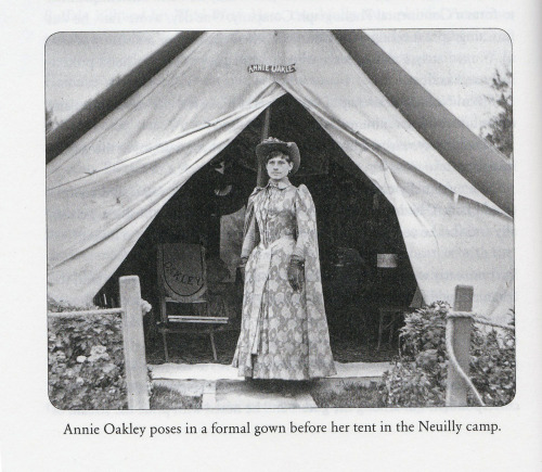 Annie Oakley's tent while at the Paris Expo, 1889.