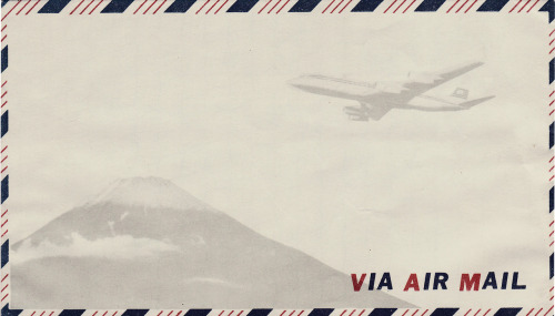 Airmail Envelope with Mount Fuji.  Vintage; from my collection.