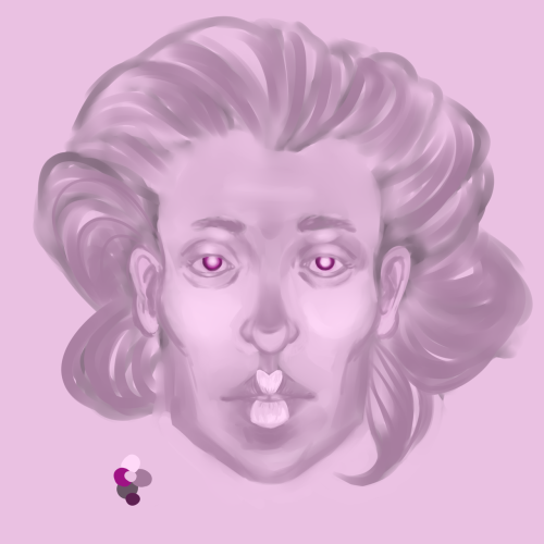 Mauve Woman WIP1 Dunno how long, maybe 2 hours so far? 1 layer, PTSai