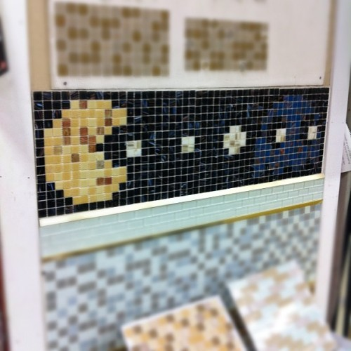 PAC-MAN: Invades Home Depot! | #pacman #homedepot #tile (Taken with Instagram at Home Depot)
