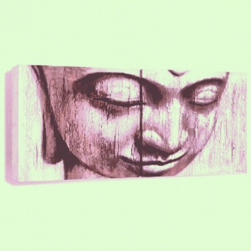 omgitzjoeyb:  How I'm feeling. ✌ #Buddha #Art (Taken with Instagram)