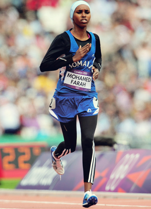 fuckyeahfamousblackgirls:  Zamzam Mohamed Farah of Somalia competes in the Women's 400m