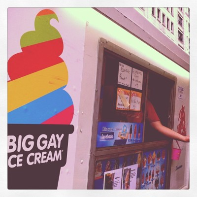 Muggy day… Perfect for @BigGayIceCream! Yum!! #trythesaltypimp #lgbt #summer #foodspotting  (Taken with Instagram)