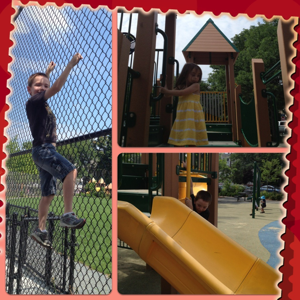 Hodgkins-Curtin playground - fun spot for tots!