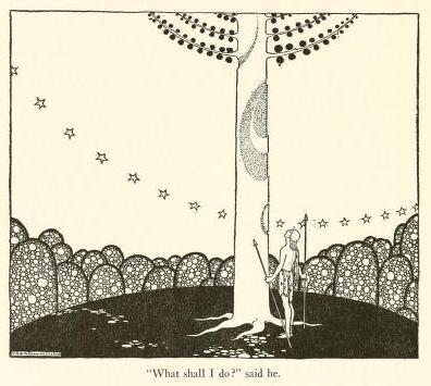 "Tanglewood tales,  Nathaniel Hawthorne (c1921)Illustrations by Virginia Frances Sterrett ""What shall I do?"" said he"