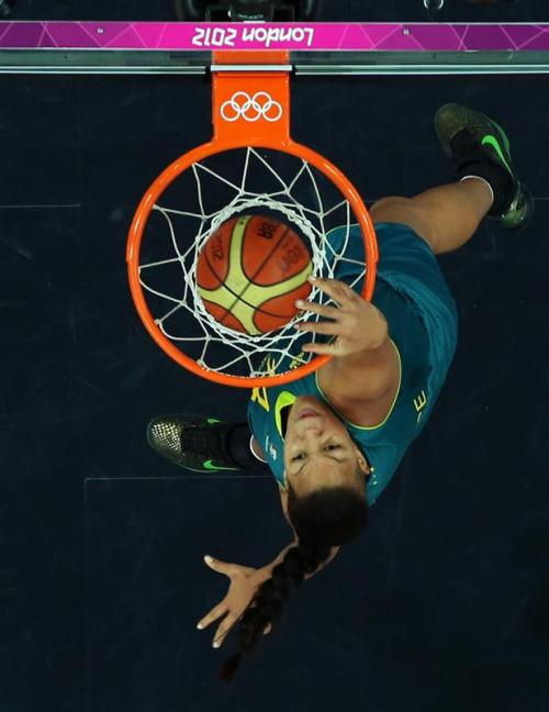 The first Dunk in Women's Olympic Basketball history happened today, and it wasn't even by anyone on Team USA.