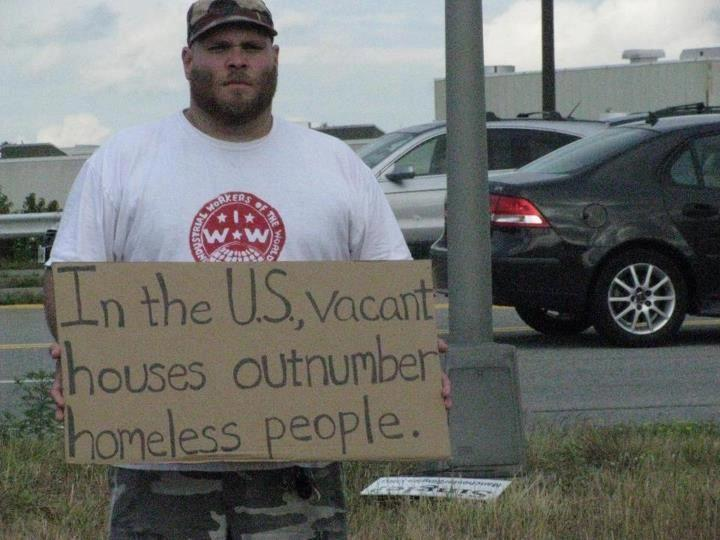 tofuboots:  llpauseandquestion:  3.5 Million Homeless and 18.5 Million Vacant Homes in the US  This is rage inducing.  only amurrikkkan capitalistic greed could create such a condition. ppl should be mobilizing a coup on the govt for its refusal to pursue prosecuting the wall street crooks responsible for this mess -o- hot garbage, but they won't