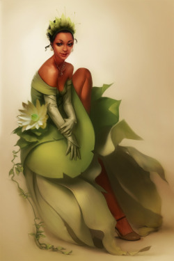 willynillylily:  Tiana by *Jace-Wallace I wish this artist would draw more dark skinned women; this Tiana is stunning.