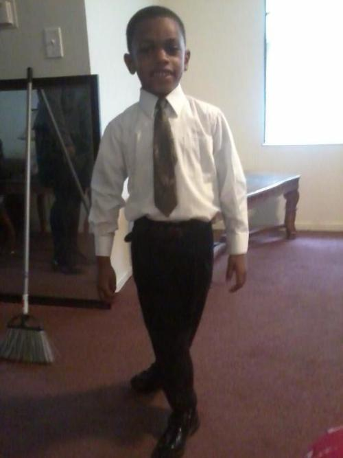 mainee my lil bro all dressed up ily !!!
