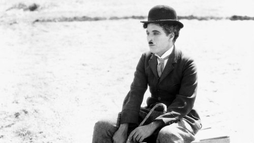 "Charlie Chaplin at the end of ""THE CIRCUS"" - 1928"