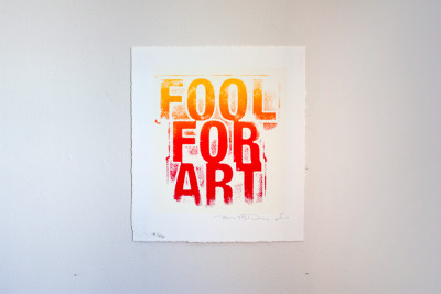 Yes I am. Fool for ArtRichard DuardoSerigraph10-1/4 x 9 in Gift of Richard Duardo