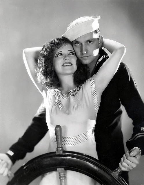 Clara Bow and Frederic March in True to the Navy, 1930