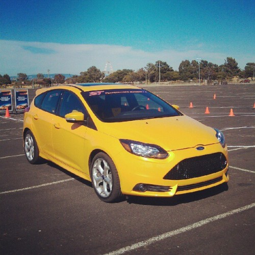 Spending the afternoon autocrossing the Focus ST with @Way4ne… (Taken with Instagram at Candlestick Park)