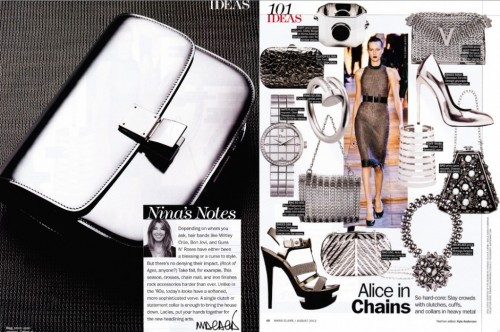 Heavy Metal Accessories by Kyle Anderson Marie Claire (August 2012)
