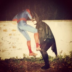 chrisgrotewold:  #spiderman #batman #funny #marvel #dccomics  (Taken with Instagram)