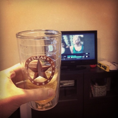 Whiskey in a Texas glass. I am okay with that.  (Taken with Instagram)