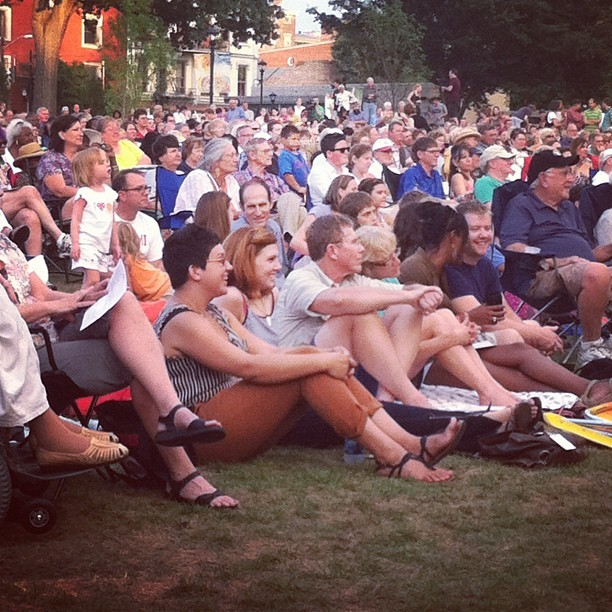 I spy two cuties enjoying the performance in @washingtonpark! #thisisotr (Taken with Instagram)