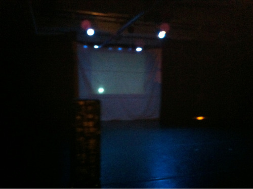 The stage.  Triskelion Arts.  2010 in Brooklyn opens in mere minutes.  Hope to see you tomorrow.