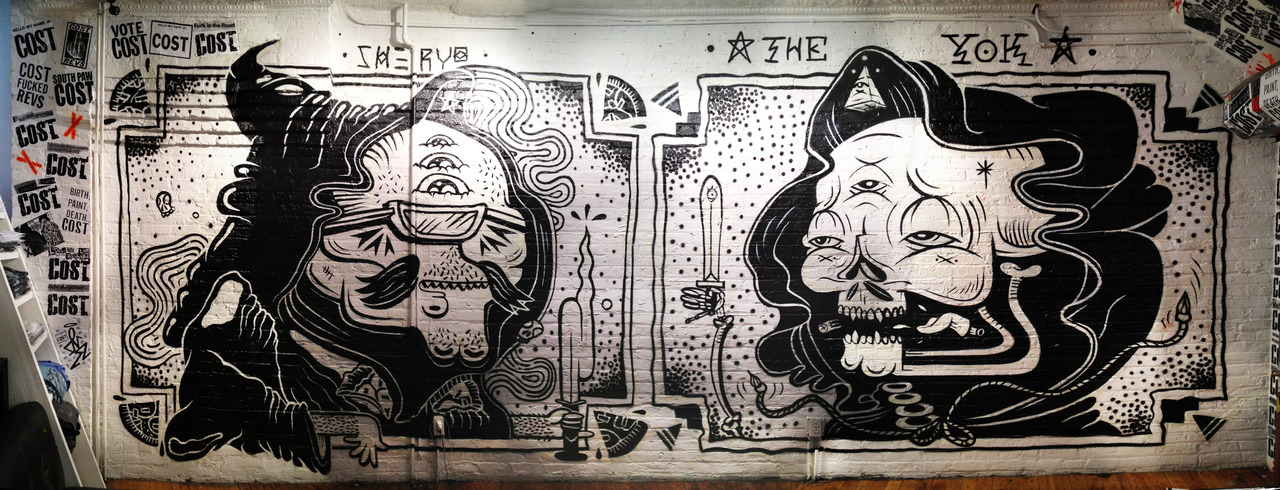 Sheryo x Yok Pandemic Gallery Brooklyn, NY Jul 2012 Picture by Freshpaintnyc