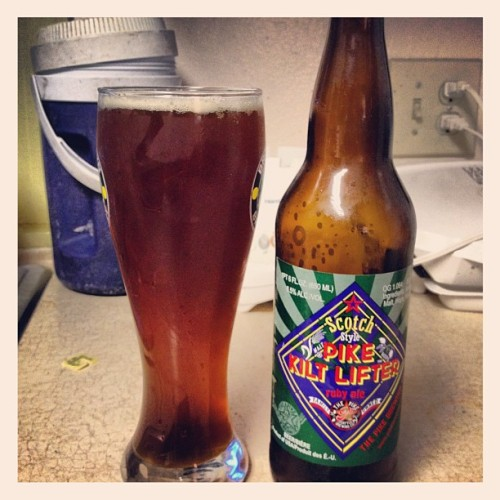 Pike Kilt Lifter Ruby Ale #fatross #drink #drinking #drunk #beer #ale #alcohol #beverage #friday #night #summer #good #awesome #photo #image #instabeer #yum #tasty #like #love #ruby #scotch #brew  (Taken with Instagram)