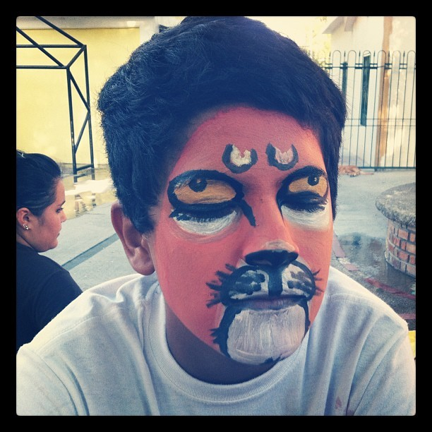 My artwork…el leon.  (Taken with Instagram)
