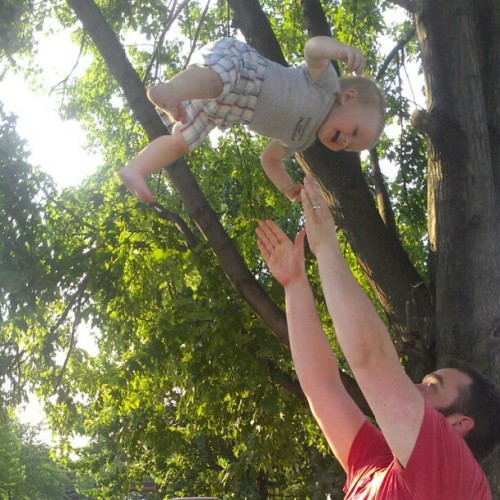 Flying baby!!!!! #heartfailure #goodfun #daddy (Taken with Instagram)