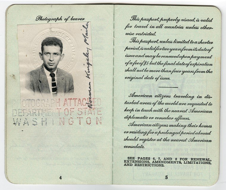 Norman Mailer's passport