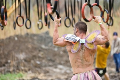 Epic Ring Failure – Tough Mudder Hangin' Tough Obstacle During the Tough Mudder in Beaver Creek, CO there was one obstacle that beat me – Hangin' Tough.   Let's dig into this epic ring failure and dig into how to prepare for the Tough Mudder Hangin' Tough Obstacle. Epic Ring Failure at Tough Mudder  Analysis of My Failure on the Tough Mudder Hangin' Tough Obstacle When faced with failure, spend some time looking back to analyze why the failure occurred.  Laugh about it, then find failure points to address. For this situation there were two main reasons behind my epic ring failure: Grip Strength, and Numb Hands. Grip Strength Let's be honest.  If I had grip of steel I wouldn't have fallen off the rings, period.  Many activities and obstacles in life would benefit from developing increased grip strength.  Watch the video again.  Watch for how I fall.  The simple conclusion is the ring slips right out of my hand. If I had developed the strength in my hands more they could have locked on like a pit-bull.  Lock onto the rings with strength that isn't questionable. Numb Hands Cold and wet!  Cold and wet are two physical conditions that work against how our hands work to grip things.  My hands were experiencing both; I had numb hands. Numb hands start to shut down, there is less blood flowing which reduces sensations (proprioception) and strength.  Now when you combine that in this case the numbness stems from being wet my skin also was very slippery. Prepare for the Tough Mudder Hang Time Obstacle Sometimes it would be nice to have wings to make progress… Build Grip Strength In my training I do work on grip strength, but as a secondary focus.  Here are the exercises and equipment that I use in my garage gym that develops grip strength:  Rings – perfect for doing ring flys, ring pull ups, ring dips, rows, and many more movements.     Pull Up Bar – my main grip training tool doing pull ups, or just working on my hang time.     Soft Ball Pull Up Grips – these were a great DIY project and doing pull ups on these definitely hit the forearms.     Bulgarian Training Bag – fill a car tire inner tube with sand, make handles, then start swinging it around.  Let me tell you right now that it will improve your grip strength.  Training the the DIY Bulgarian Training bag is a great way to get started.  Check out my Kindle book on The Bulgarian Bag Basics.     Kettlebells – these compact little tools are near and dear to my heart.  They just work for the limited space I have in my garage gym.  In my Kettlebell Guide I offer lots of other links to help get you started with kettlebells.  They are another training tool that requires your grip to hang on as you swing weight around.    While those are well and good, they did not develop the grip strength that was needed on the Tough Mudder Hang Time Obstacle. I've joined GripBoard as a way to talk with others about building my grip strength.  Prevent Numb Hands In this situation I just shake my head.  I already had the solution to numb hangs, Mad Gripz gloves. See months prior to the Tough Mudder I had researched what equipment I needed to run the event.  One piece of gear was gloves, specifically Mad Gripz gloves.   They worked incredibly well – when worn. Coming up to the Tough Mudder Hang Time obstacle our team was debating if gloves would help, or not.  We talked about trade-offs either way and in the end I decided to pull the gloves off. The result was an epic ring failure.  My hands felt fine in the gloves, but instantly felt cold outside in the wind.  They were wet and chilled.  As much as I tried to get the blood flowing to warm them up it just wasn't happening.  By the time I reached out for the first ring my hands still felt cold. The Mad Gripz gloves have a wonderfully sticky rubber palm.  They helped tremendously as I climbed across the monkey bars later in the Tough Mudder.  I should have kept them on; next time I will. Dig Through and Embrace Your Failures – Fail Forward But take this same approach with any of your own failures.  Look back on them, find humor, find opportunity, and go forward. For me finding ways to fail forward is an essential part of improving.  Embrace your own failures, like my epic ring failure at the Beaver Creek Tough Mudder, to help you improve.Related Posts:  Are You Ready For A Change?  Take On A Fitness Challenge!   Super Hero Trick to Get Results | Number One Mistake Holding Back Your Training   Transform from a Cube Dweller to a Super Hero | Lose Fat Faster Than a Speeding Bullet   Dig Into Tabatas – Free Video Course and eBook   Bulgarian Training Bag eBook on Kindle For Free   Get Started with Tabata TrainingSign up for my newsletter and learn all about Tabata Training.  Just enter your email address to get started. You will get:4 Free Videos A Free eBook: Introduction to Tabatas A Tabata Sprint Workout Video. Sign Up To Get Started.Read the rest of the story