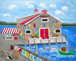 """Lobster Shack in Bar Harbor"" by Dawn Johnson"