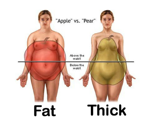phatbootycuties:  Fat vs Thick: There's a difference, people (…ladies!) A huge difference!!!