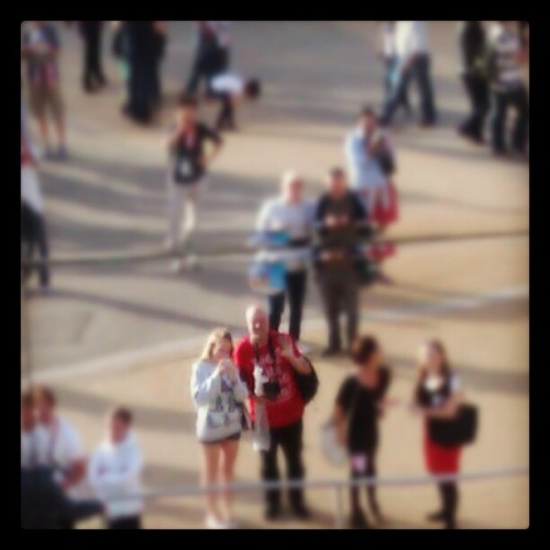 My idol and I  (Taken with Instagram at BP Hospitality Pavillion - 2012 Olympic Park)