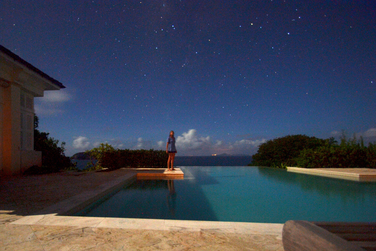 Mustique night shot self portrait