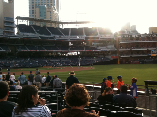 Night at the park-go Padres!