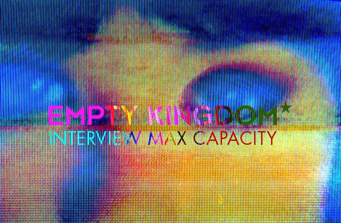 Max Capacity Interview For Empty Kingdom   Max Capacity is from the East Bay.  Where lots of awesome things come from.  He's done some really cool things with older 'antiquated' media of many different kinds lending relevance and style to 'found' media. … What about older media, video tapes in particular, do you find interesting?  How has your attachment to that media influenced the content you choose for your work?  The price is right! I grew up with VCRs, taping things off of my TV. I'm totally obsessed with the same stuff, even still. One of my favorite things is watching old commercials on taped television broadcasts. Now everyone is throwing all that stuff away and it's easy for me to get my hands on.  How do you choose the colors in a piece?  You use a lot of loud, neon colors, what's the reason for that?  Is there something in particular that such loud colors say to you? I guess the world is kinda grey and boring. It seems like my memories are more vivid than reality. Plus I'm probably influenced by old punk and new wave art and skateboard and video game art. Also cartoons. I was a kid in the 80s.  Read the whole piece here