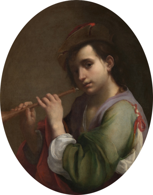 necspenecmetu:  Vincenzo Dandini, A Youth Playing the Flute, 17th century
