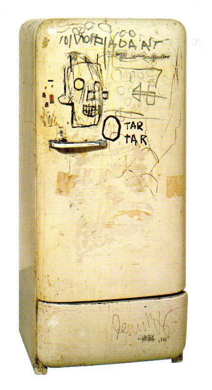 thecricketchirps:  Jean-Michel Basquiat, Untitled (Refridgerator), 1981