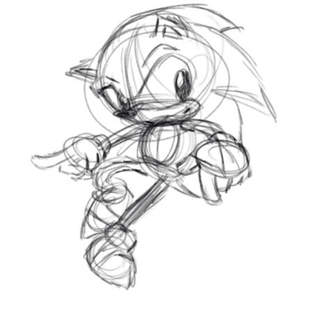 A loose and dirty sketch of everyone's favorite hedgehog Sonic. But what makes this so special is that I did it with my Wacom tablet and MyPaint. This is the first time I've managed to get something at least recognizable out of it.