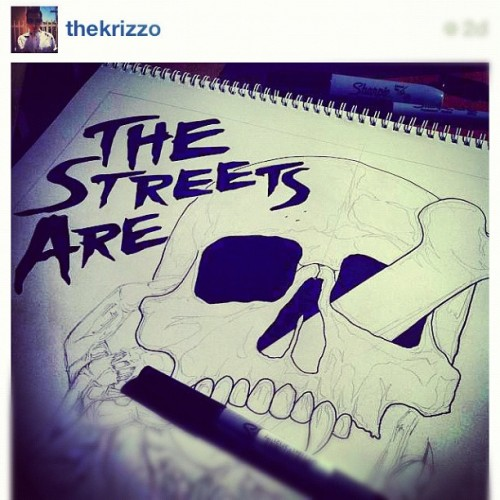 Check out this drawing @thekrizzo is working on for #TheStreetsAreCalling art m a (Taken with Instagram)