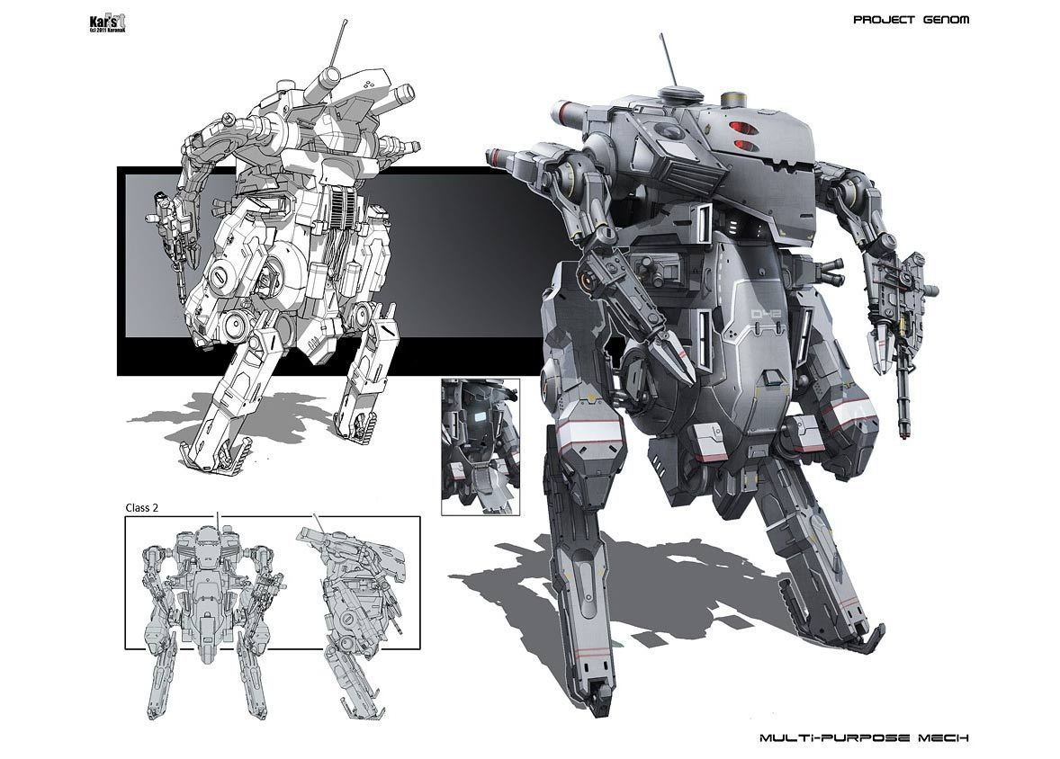 MECH design by Karanak.