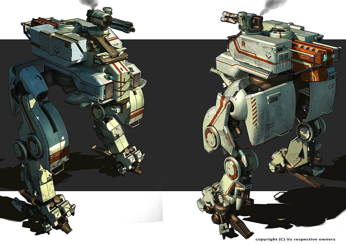 MECH concept art by Sexforfood.