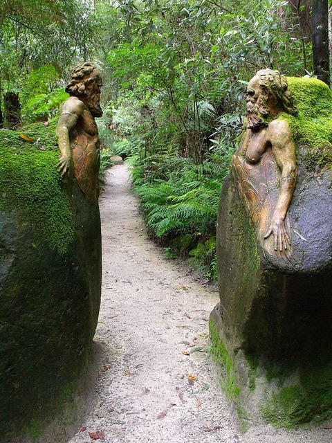 bluepueblo:  Guardians at the Gateway, William Ricketts Sanctuary, Melbourne, Australia photo via victoria