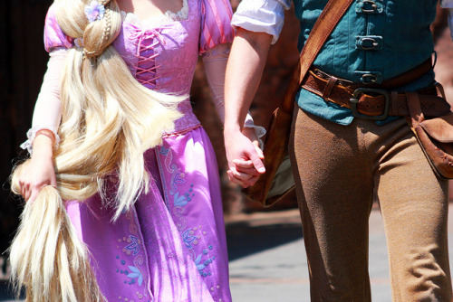 adventuresatdisneyland:  Rapunzel and Flynn Rider on Flickr.